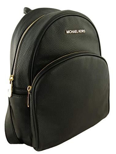Michael Kors Abbey Medium Genuine Pebble Leather Black
