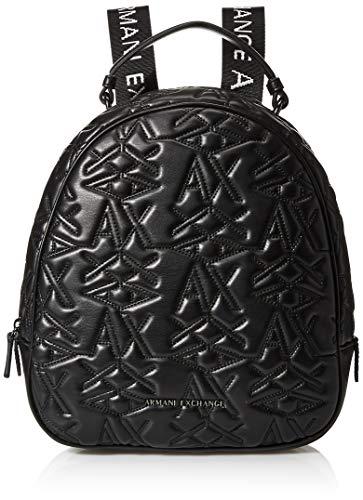 ARMANI EXCHANGE Logo Texture Backpack - Borse a zainetto Donna, Nero...