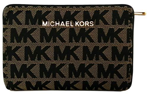 Michael Kors Jet Set Travel Medium Bifold Zip Coin Wallet Jacquard...