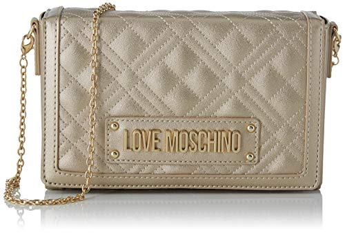 Love Moschino Jc4054pp1a, Borsa a Tracolla Donna, Oro (Oro), 5x13x20...