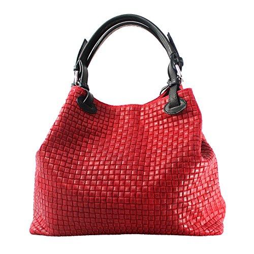 Chicca Borse 80047, Borsa a Tracolla Donna, Rosso, 34x29x18 cm (W x H...