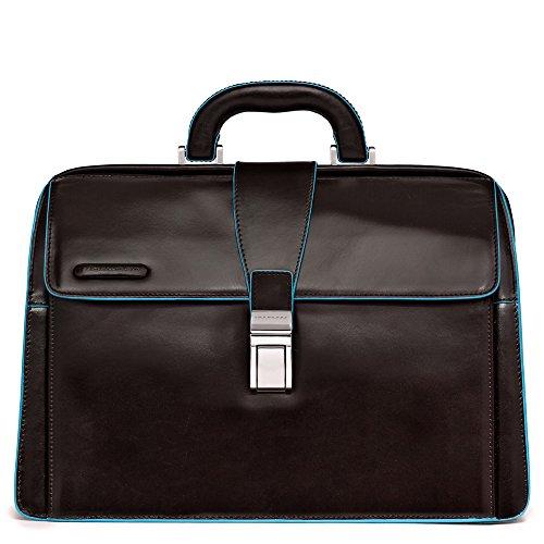 Piquadro Blue Square Borsa Dottore, Pelle, Mogano, 36 cm