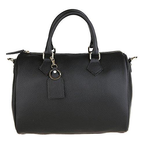 Chicca Borse Handbag Bauletto Borsa a Mano da Donna con Tracolla in...