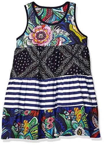 Desigual Girl Knit Dress Straps (Vest_Maseru) Vestito, Blu (Navy...