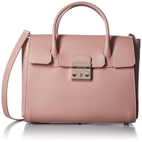 FURLA Metropolis Medium Satchel - Borse a secchiello Donna, Pink...