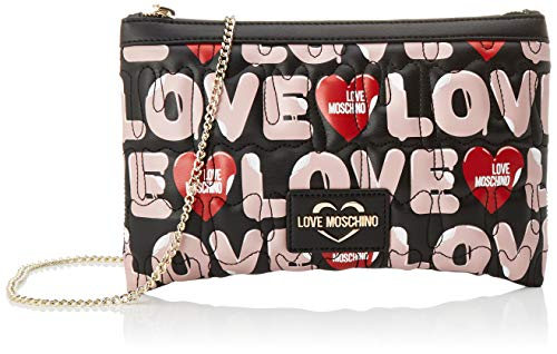 Love Moschino Jc4227pp0a, Pochette da Giorno Donna, Multicolore (Black...