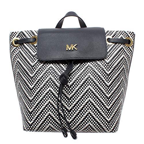 Michael Kors Borsa Zaino Donna 30H8BX5B2U Flap Backpack Pelle Bianco...