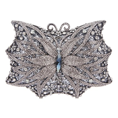 Bonjanvye Shining Butterfly Shape Handbags for Ladies Evening Clutch...
